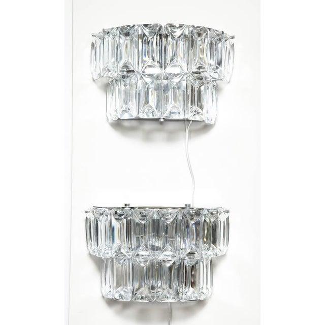 Transparent Glamorous 1970s Austrian Crystal Sconces For Sale - Image 8 of 10