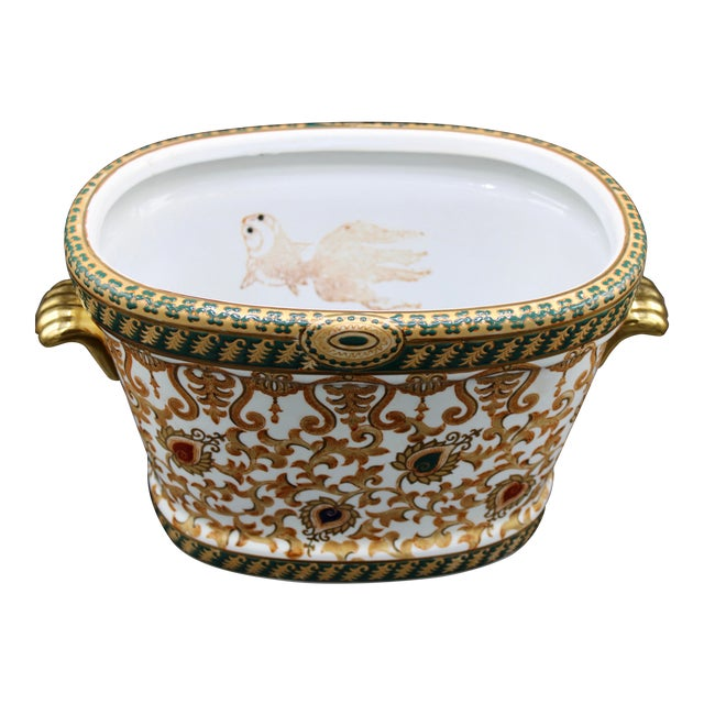 1970s Chinese Porcelain Foot Bath For Sale