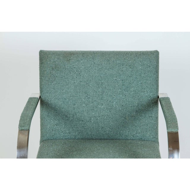 Chrome Vintage Mid Century Mies Van Der Rohe Brno for Knoll Chair- a Pair For Sale - Image 7 of 10