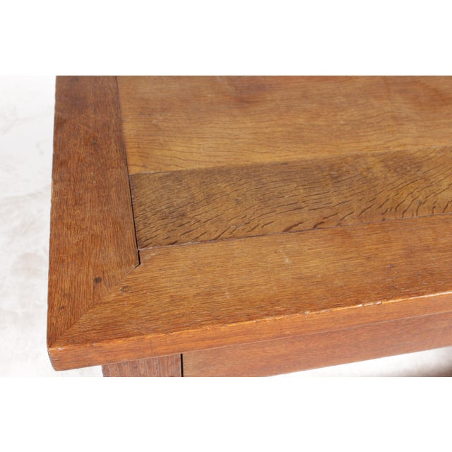 Brown Mid-Century Tudor-Style Coffee Table For Sale - Image 8 of 11