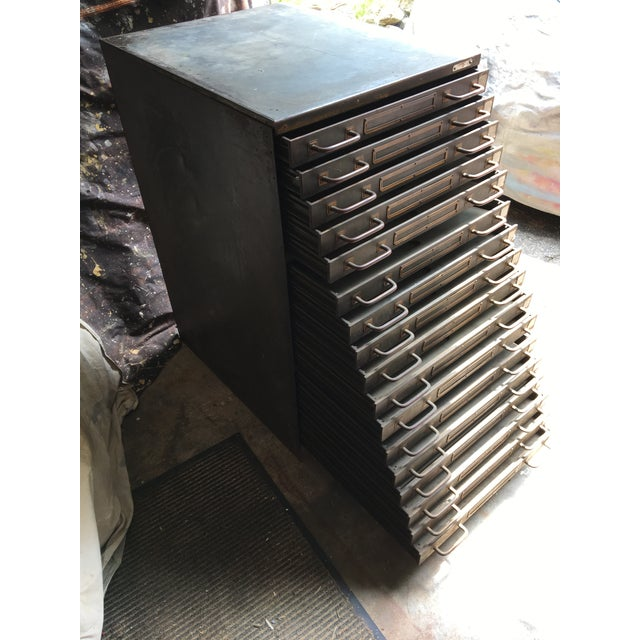 1960s Industrial Steel Flat File Cabinet For Sale - Image 5 of 11