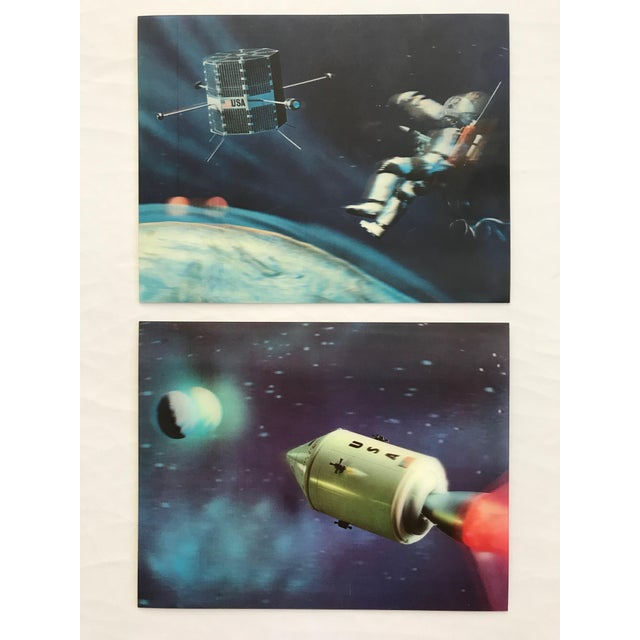 Lenticular Animation Moon Landing Astronaut Prints From 1966 - Set of 4 For Sale - Image 9 of 12