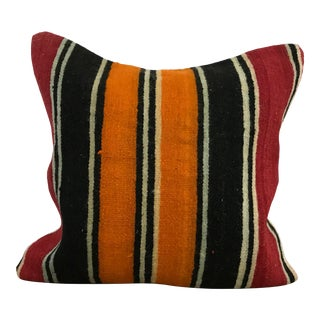 Ethnic Turkish Hand Woven Decorative Turkish Kilim Pillow For Sale