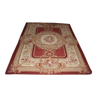 Needlepoint Wool Rug - 8′ × 10′ For Sale