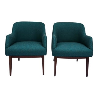 Jens Risom MCM Chairs, a Pair For Sale