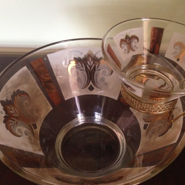 Mid-Century Glass Ice Bucket with Condiment Bowl - Image 6 of 11