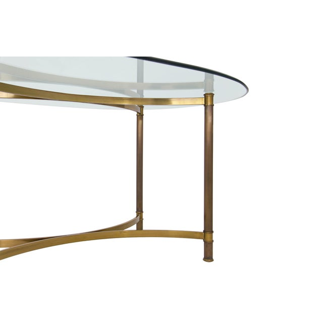 Oval Brass & Glass Dining Table - Image 5 of 9