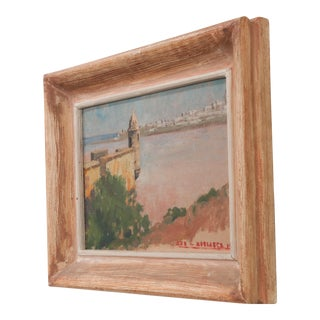 French Vintage Oil-On-Panel For Sale