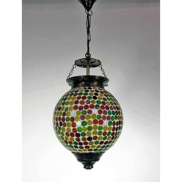 Multicolored Mosaic Globe Lantern - Image 2 of 3