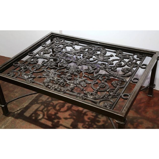 Polished Iron Coffee Table Base For Sale - Image 9 of 10