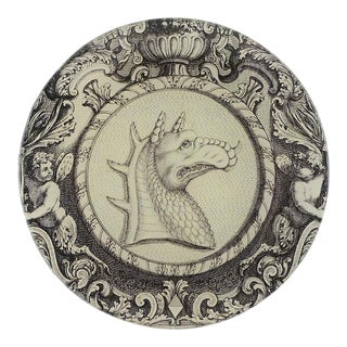 John Derian Dragon Round Plate For Sale