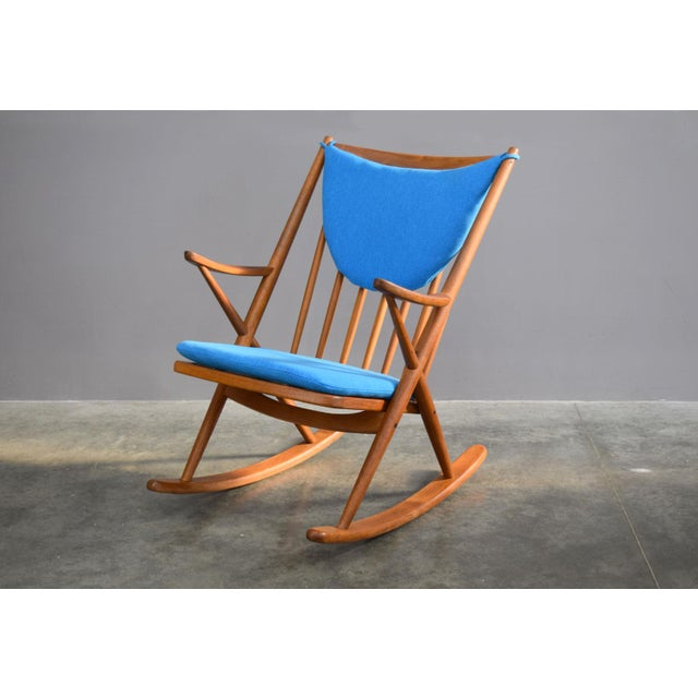 Danish Modern Beautifully Restored Teak Danish Frank Reenskaug Rocker For Sale - Image 3 of 9
