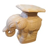 Image of Vintage Mid Century White Elephant Pedestal Table For Sale