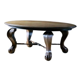 English Mahogany Oval Centre Table For Sale