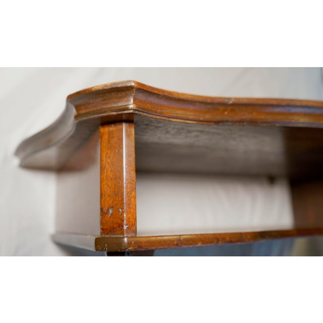 Mahogany Vintage Hanging Wall Mount Scalloped Bracket Console For Sale - Image 9 of 10