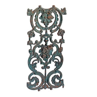 Ornate Cast Iron Fence Baluster For Sale