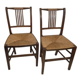 19th Century English Cane Chairs - a Pair For Sale
