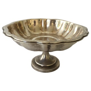 Silver Pedestal Dish For Sale