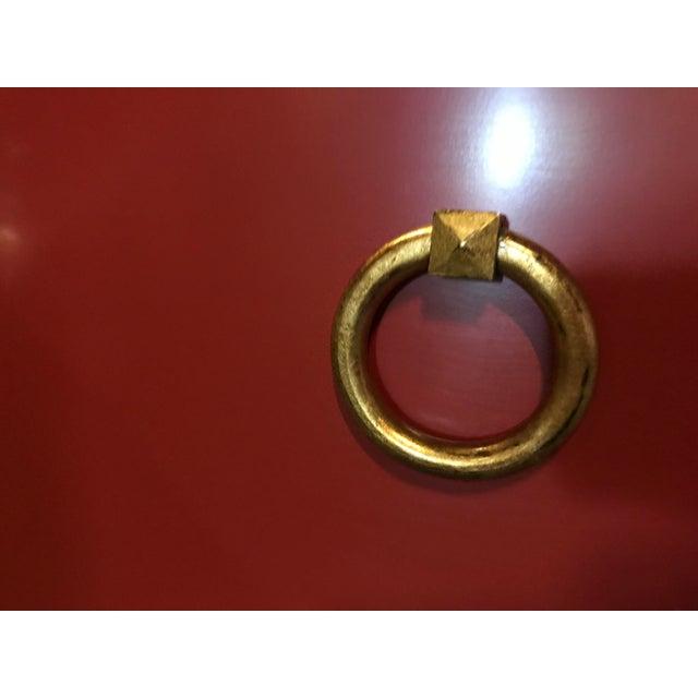 Truex American Furniture Red Lacquer St Regis Cabinet - Image 3 of 4