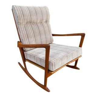Beautiful Mid Century Danish Modern Rocking Chair For Sale