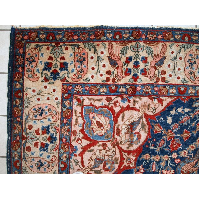 Islamic 1920s Antique Persian Tabriz Rug- 6′4″ × 10′2″ For Sale - Image 3 of 10