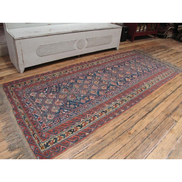 Beautiful antique sumak flatweave from the Caucasus. Great design and color palette, elegant proportions. In excellent...