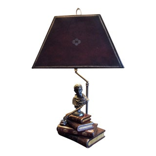 Maitland Smith Book Lamp With Leather Lamp Shade