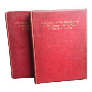 Catalogue of the Drawings of Leonardo Da Vinci at Castle Windsor Books - a Pair For Sale