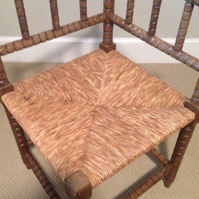 Corner Cane Spool Chair - Image 4 of 7