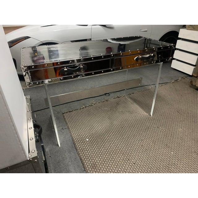 2010s Eichholtz Trans-Atlantic Trunk Desk For Sale - Image 5 of 5