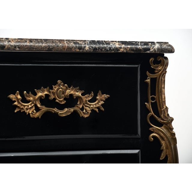 French Antique Louis XV Marble Top Commode Chest For Sale In Austin - Image 6 of 10