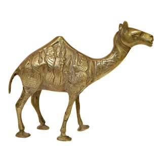 Brass Camel With Carvings
