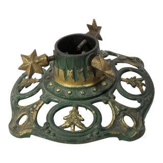1890s Antique Cast Iron Christmas Tree Stand For Sale