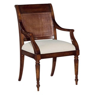 Modern Cane Back Arm Chair For Sale