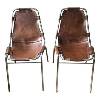 Vintage Mid Century Les Arcs Charlotte Perriand Chairs- A Pair For Sale