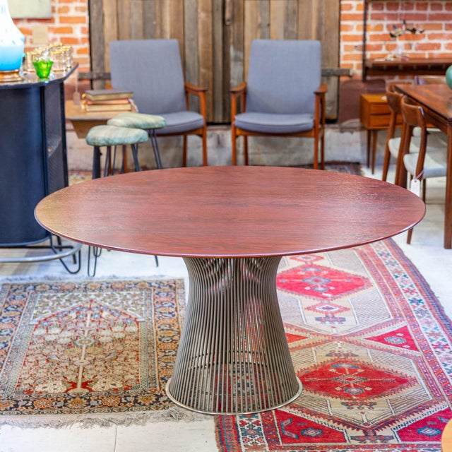 Vintage Mid-Century Modern Rosewood Platner Dining Table For Sale In Los Angeles - Image 6 of 6