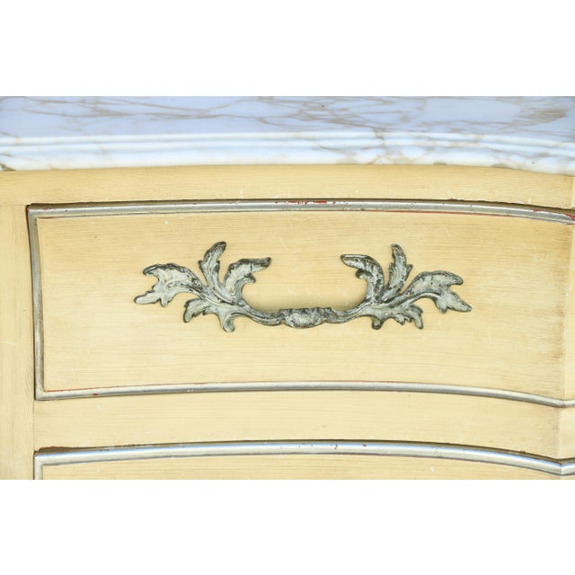 Tan John Widdicomb Dresser w/ Carrara Marble Top For Sale - Image 8 of 10