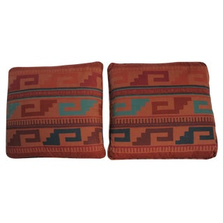 Kilim Style Cotton Pillows - a Pair For Sale