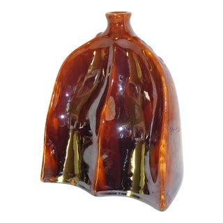 1870 Bennington Pottery Carriage or Sleigh Ride Foot Warmer For Sale