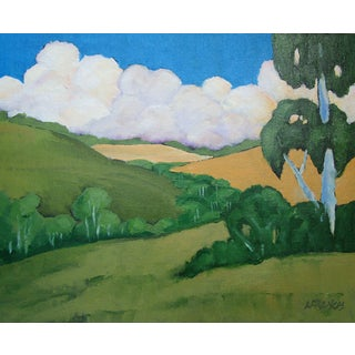 Napa Valley California Eucalyptus Hills Landscape Lynne French For Sale