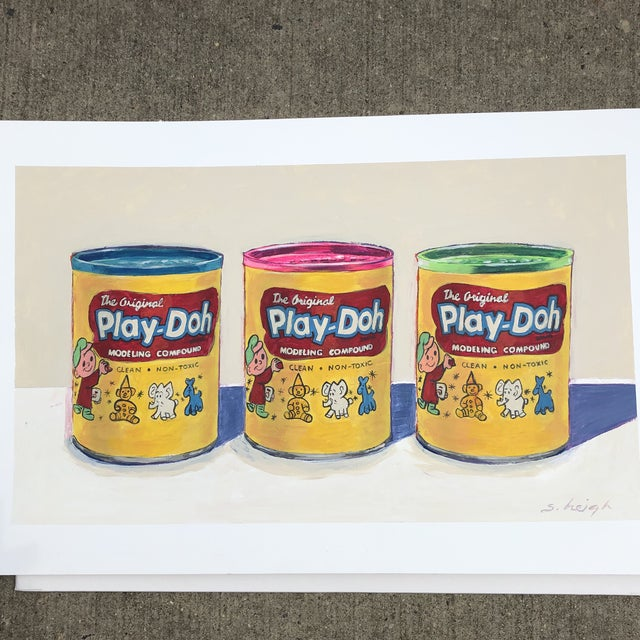 "Contemporary Philadelphia Illustrator Stephen Heigh "" Play-Doh"" Original Painting For Sale In Philadelphia - Image 6 of 6"