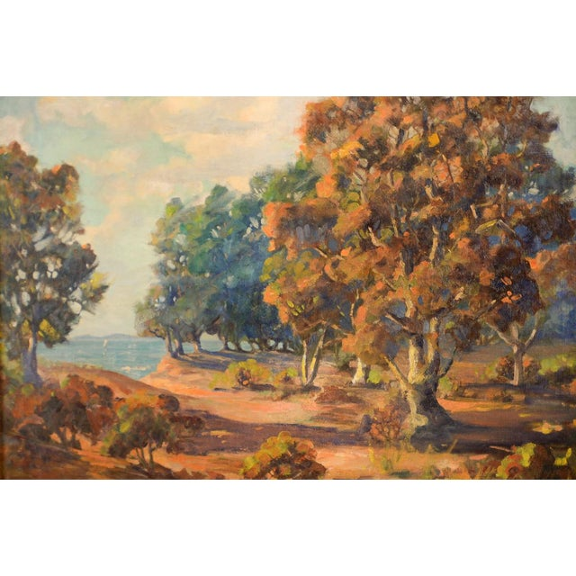 Impressionist Impressionist Horatio Nelson Poole Large California Landscape Oil Painting For Sale - Image 3 of 10