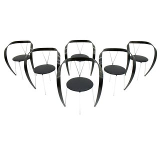 Set of Six Revers Chairs, Andrea Branzi for Cassina, 1993 For Sale