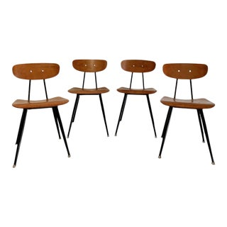 Vintage Mid Century Modern Dining Chairs by American Seating Corporation, Set of 4 For Sale
