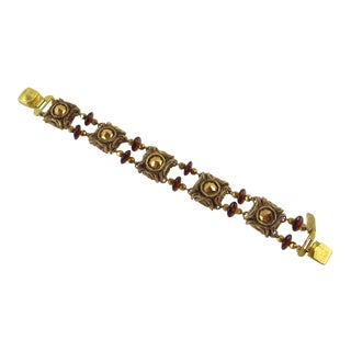 French Jeweler Henry Perichon Talosel Resin Bracelet With Glass Beads For Sale