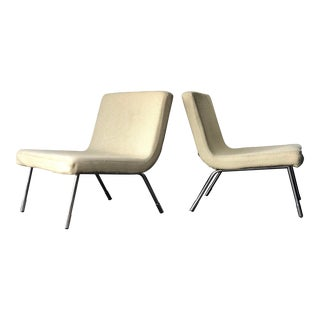 1990s Roche Bobois Chrome Lounge Chairs - a Pair For Sale