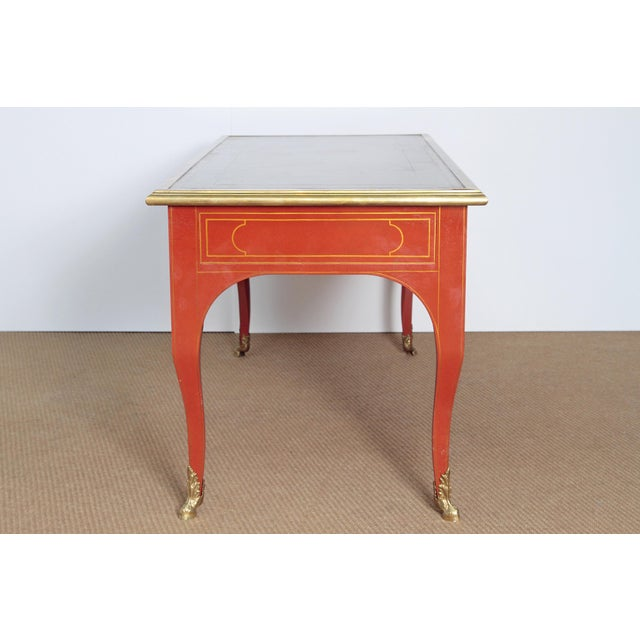 BAKER & COMPANY COLLECTORS EDITION LOUIS XV STYLE PAINTED BUREAU PLAT - Image 3 of 10