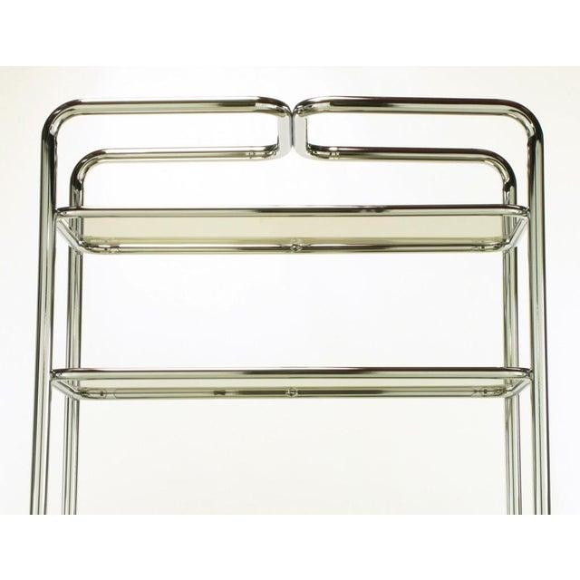 Tubular Chrome & Smoked Glass Five Shelf Etagere. - Image 8 of 10