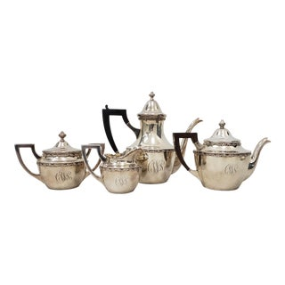 Vintage Shreve & Co. Sterling Silver Coffee & Tea 4 Pc. Set For Sale