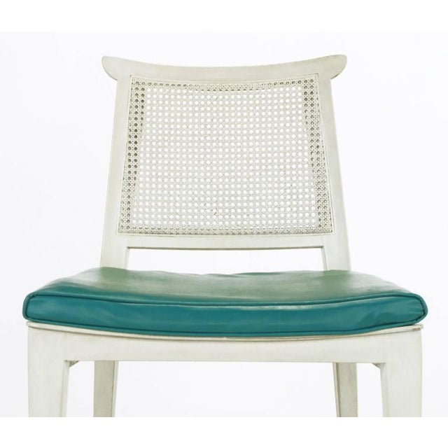 1950s Edward Wormley Bleached and Glazed Mahogany Side Chair For Sale - Image 5 of 8